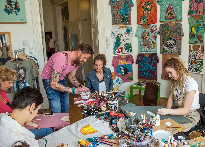 pólófestő workshop